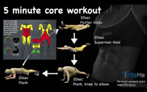 5 minute core workout L1