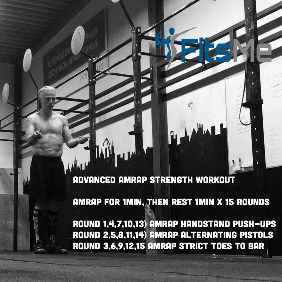 Advanced AMRAP strength workout
