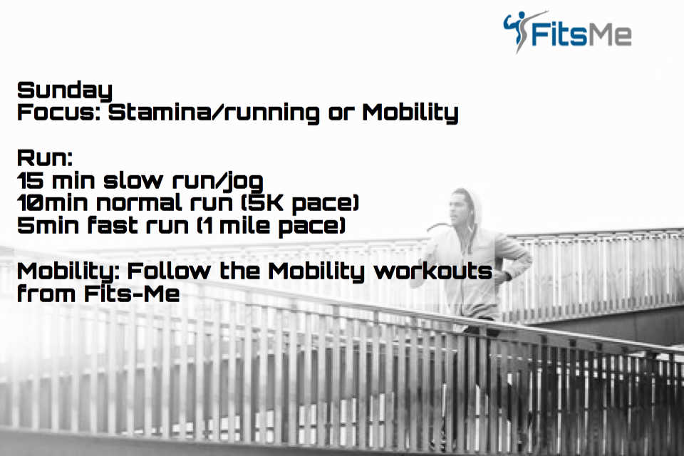 Interval running for stamina
