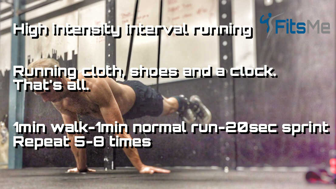 High intensity interval running workout