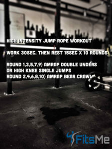 High intensity jump rope workout