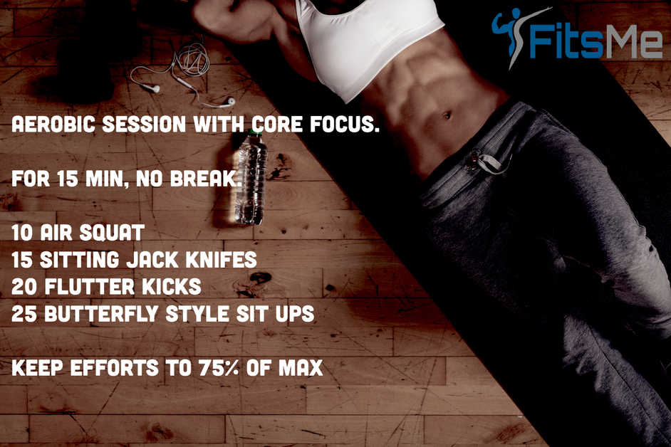 Aerobic workout with core focus