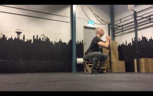 Isometric leg exercise - squat hold