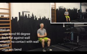 Isometric leg exercise - wall sit