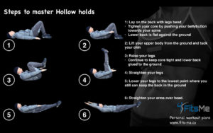steps to master hollow holds