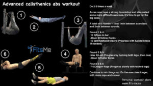 advanced calisthenics abs workout