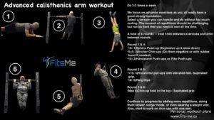 advanced calisthenics arm workout