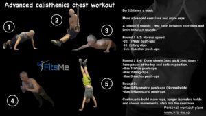 Advanced calisthenics chest workout