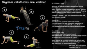 beginner calisthenics arm workout