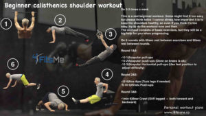 beginner calisthenics shoulder workout