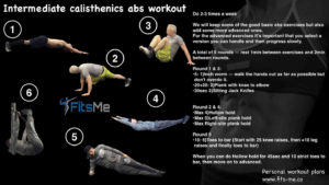 Calisthenics Abs Workout Beginner Intermediate Advanced
