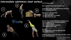 Intermediate calisthenics chest workout