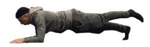 one leg plank