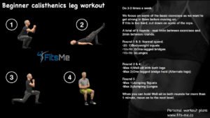 Beginner calisthenics leg workout